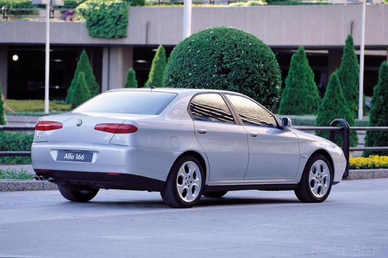 Alfa Romeo 166 2.5 V6 24v 190 KM 1999 sedan skrzynia ręczna napęd ...